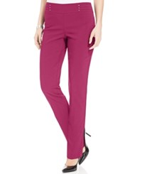 Jm Collection Petite Studded Pull On Pants Only At Macy's Steel Rose