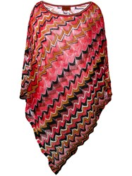 Missoni Zigzag Poncho Red