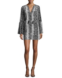 Elizabeth And James Nadelle Python Print Mini Dress Gray
