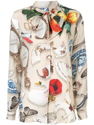 Boutique Moschino Printed Button Down Shirt Multicolour