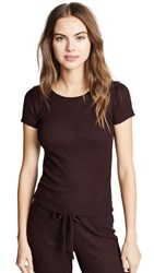 Nation Ltd. Ltd Miriam Ribbed Knit Slim Crew Tee Aubergine