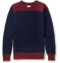 Visvim Colour Block Wool Sweater Navy