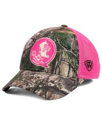Top Of The World Women's Florida State Seminoles Hunter Snapback Cap Camo Pink