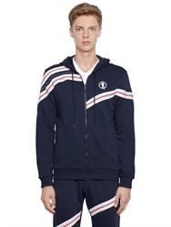 Dirk Bikkembergs Wave Inserts Zip Up Cotton Sweatshirt