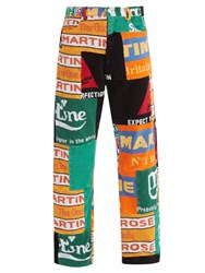 Martine Rose Beer Mat Print Patchwork Trousers Multi