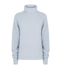 Maje Knitted Roll Neck Jumper Female Light Blue