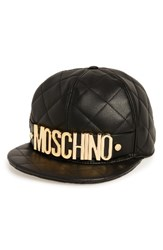 Moschino Women's Quilted Leather Baseball Cap