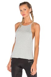 Blue Life High Neck Tank Gray