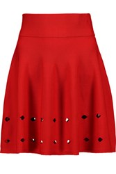 Opening Ceremony Corey Cutout Knitted Mini Skirt Papaya