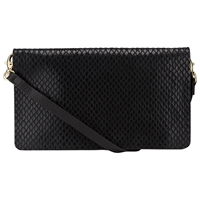 Collection By John Lewis Cora Small Leather Strap Clutch Bag Black