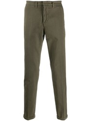 Fay Slim Fit Tapered Trousers Green