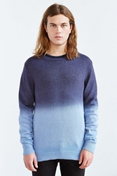 Native Youth Dip Dye Crew Neck Sweater Navy