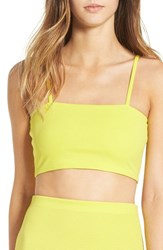 Missguided Women's Rib Knit Crop Top Lime