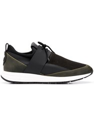 Alexander Smith Panel Lace Up Sneakers Green