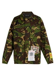 Martine Rose Camouflage Cotton Blend Jacket