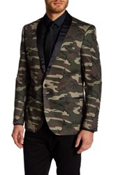 Edge By Wd.Ny Shawl Collar Print Blazer Multi