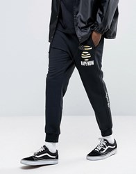 Aape By A Bathing Ape Joggers With Badge Print Black