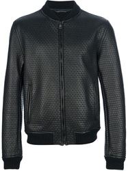 Dolce And Gabbana Bonded Lambskin Bomber Jacket Black