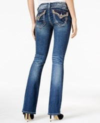 Miss Me Studded Medium Blue Wash Bootcut Jeans