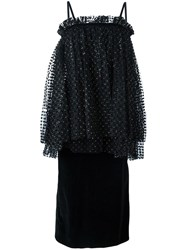 Isa Arfen Gathered Dress Black