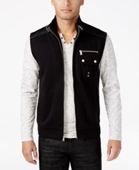 Inc International Concepts Men's Robert Belted Collar Vest Only At Macy's Deep Black