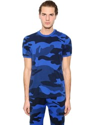 Hydrogen Military Camouflage Cotton T Shirt