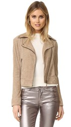 Yves Salomon Perforated Biker Jacket Sahara