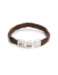 Uno De 50 Culebron Braided Leather Bracelet Brown