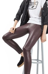 Topshop Women's Percy Faux Leather Skinny Pants