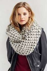 Urban Outfitters Baroque Eyelash Eternity Scarf Black And White