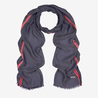 Bally Made In Stripe Scarf Blue