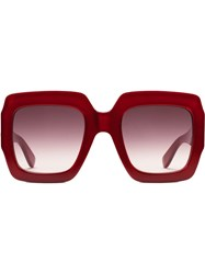 Gucci Eyewear Square Frame Sunglasses Red
