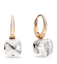 Pomellato Nudo White Topaz Rose Gold Earrings Female