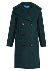 Mih Jeans Richards Double Breasted Wool Coat Dark Green