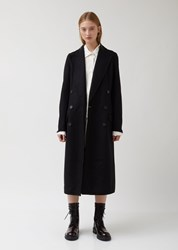 Ann Demeulemeester Double Breasted Wool Coat Cappotto Black