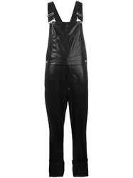 Givenchy Leather Dungarees Black