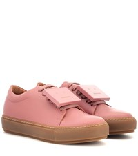 Acne Studios Adriana Turnup Leather Sneakers Pink