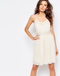 Vila Pretty Lace Insert Dress Pink Tint