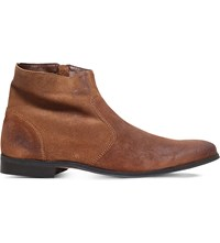 Kg By Kurt Geiger Reece Suede Ankle Boots Tan