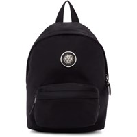 Versus Black Nylon Lion Backpack