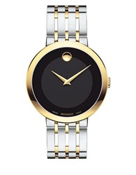 Movado Esperanza Stainless Steel And Yellow Gold Pvd Stainless Steel Bracelet Watch Two Tone