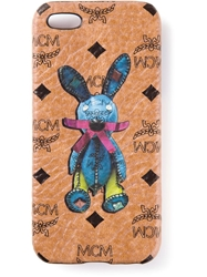 Mcm 'Rabbit' Iphone Case Nude And Neutrals