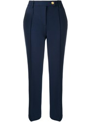Tory Burch Sara Cropped Trousers Blue