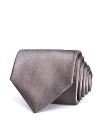 Turnbull And Asser Satin Solid Classic Tie Charcoal