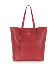 Le Parmentier Large Saffiano Leather Tote Red