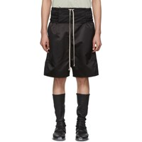 Rick Owens Black Boxing Shorts