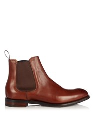 Cheaney Godfrey Leather Chelsea Boots Brown