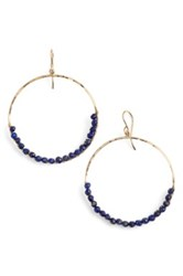 Sonya Renee 'Leyla' Semiprecious Stone Hoop Earrings Blue