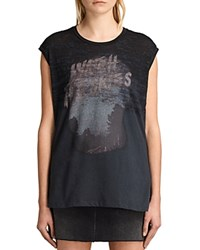 Allsaints Skies Brookita Tee Dark Night Blue