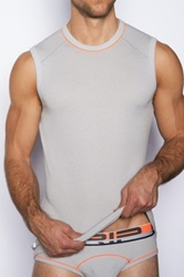 C In2 Crew Neck Strong Arm Tank Gray